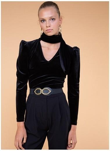 Selma Çilek X Boyner Bluz Siyah